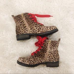 Dolce Vita Lilla Ankle Velvet Leopard Boots